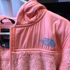 The North Face fuzzy zip-up jacket